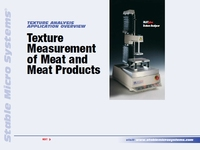 Texture Measurement of Meat and Meat Products